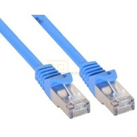 Patchkabel CAT5e SF/UTP RJ45 20m blau