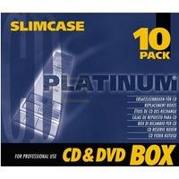 Platinum CD-R / DVD-Leerboxen - SlimCase - 10 Stück