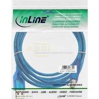 USB 2.0 Kabel A-St. -> B-St. 1.8m blau-transparent