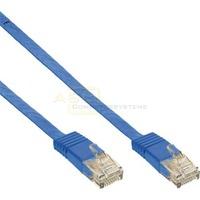 Patchkabel CAT6e U/UTP RJ45 3m blau flach