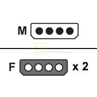 Y-Kabel Stromversorgung 1x5.25 -> 2x5.25