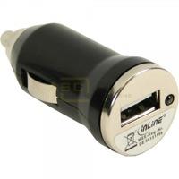 USB KFZ Stromdapter 12/24V zu 5V 1A Mini * schwarz