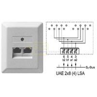 ZE ISDN-Dose UAE2x8 (4) Aufputz pws LSA